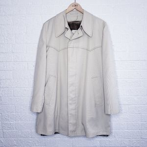 London fog lined trench coat rain size 40 regular